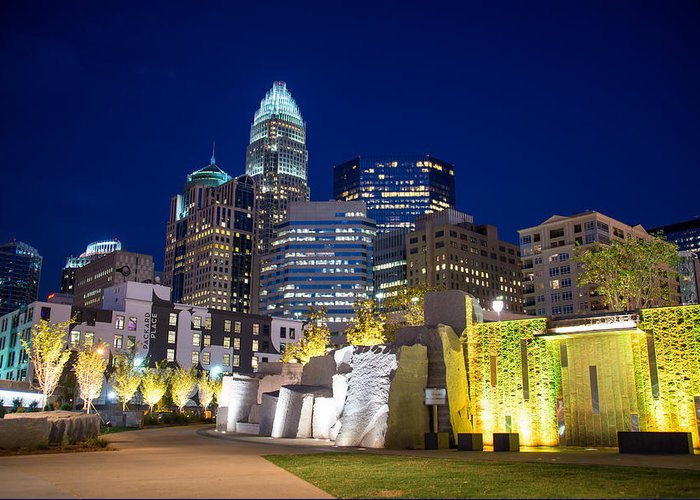 Charlotte Greeting Card featuring the photograph Twilight In Charlotte by Serge Skiba