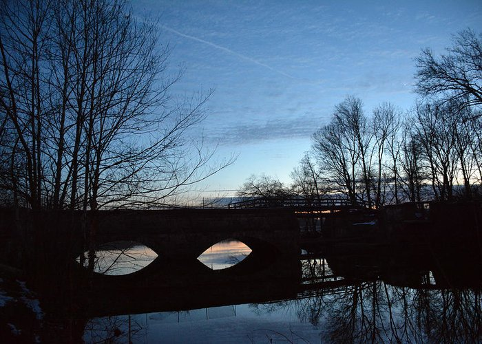 Twilight Greeting Card featuring the photograph Twilight On The Potomac River by Bill Helman