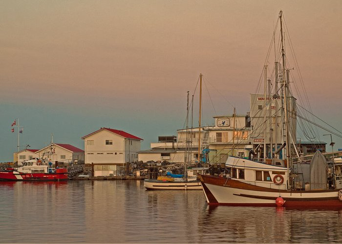 Fishing Boat Greeting Card featuring the photograph Twilight by Randy Hall