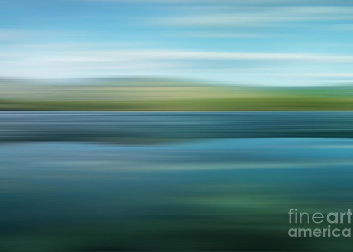 Impressionistic Greeting Card featuring the photograph Twin Lakes by Priska Wettstein