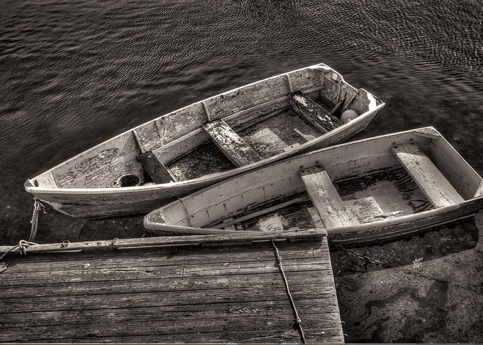 Boats Greeting Card featuring the photograph Two Boats by Fred LeBlanc