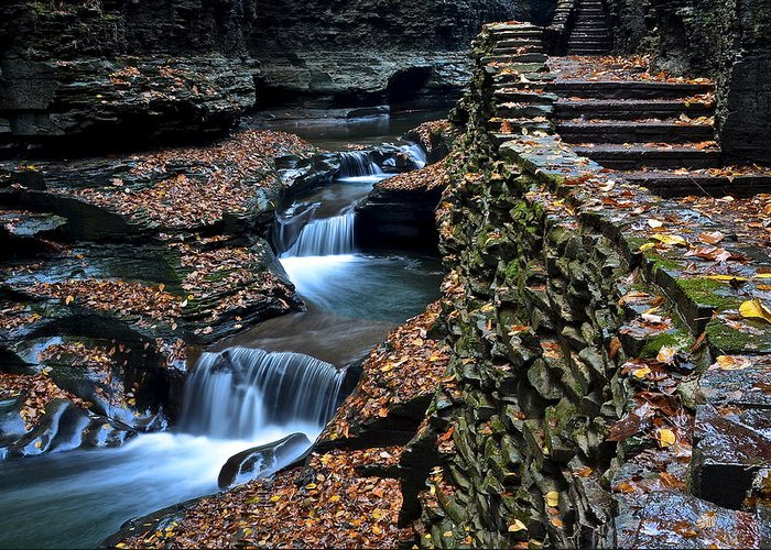 Steps Greeting Card featuring the photograph Two Kinds Of Steps by Frozen in Time Fine Art Photography