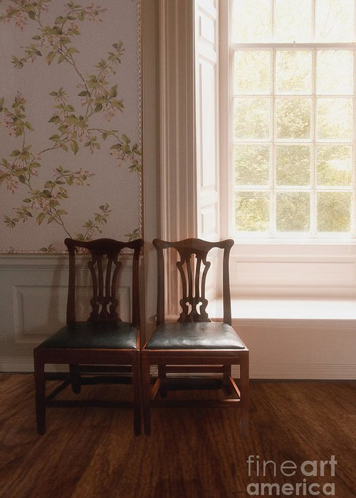 Chairs Greeting Card featuring the photograph Two by Margie Hurwich