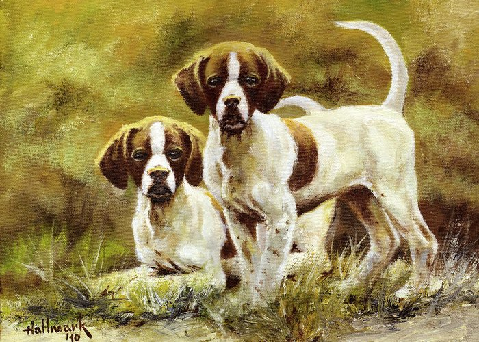 Bob Hallmark Greeting Card featuring the painting Two Of A Kind by Bob Hallmark