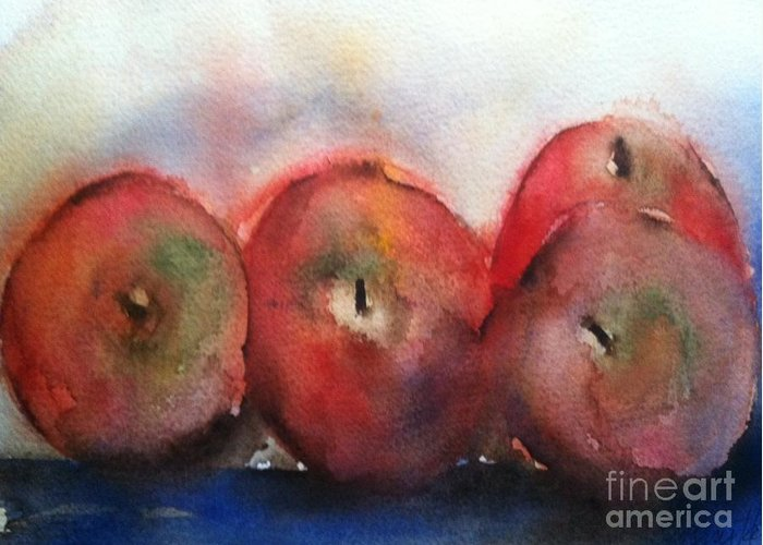 Orchards Greeting Card featuring the painting Two Pairs by Sherry Harradence