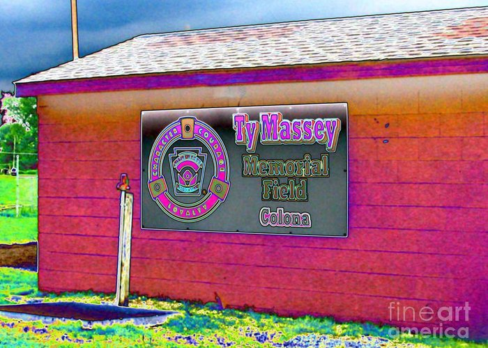 Ty Greeting Card featuring the photograph Ty Massey Memorial Colona Il by Margaret Newcomb