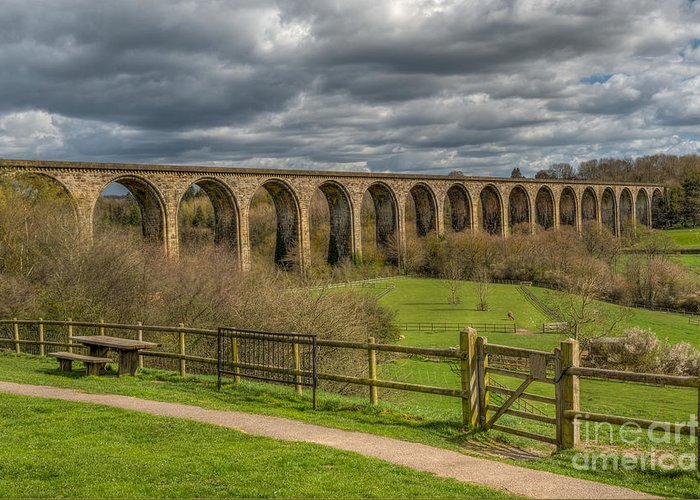 Arch Greeting Card featuring the photograph Ty Mawr Country Park by Adrian Evans