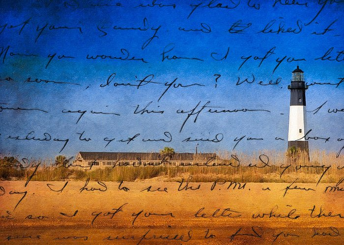 Tybee Island Lighthouse Greeting Card featuring the photograph Tybee Island Lighthouse - A Sentimental Journey by Mark E Tisdale