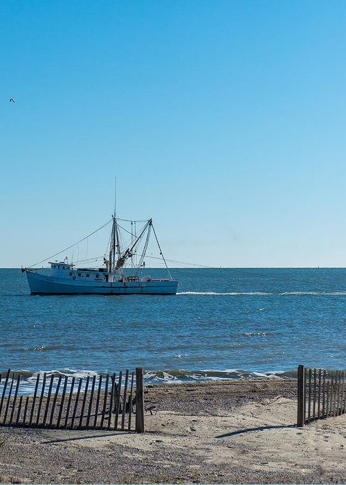 Shrimp Boat Greeting Card featuring the photograph Tybee Shrimp Boat by Howard Hackney