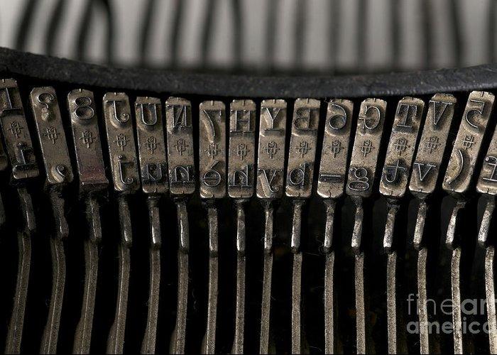 Studio Shot Greeting Card featuring the photograph Typewriter by Bernard Jaubert