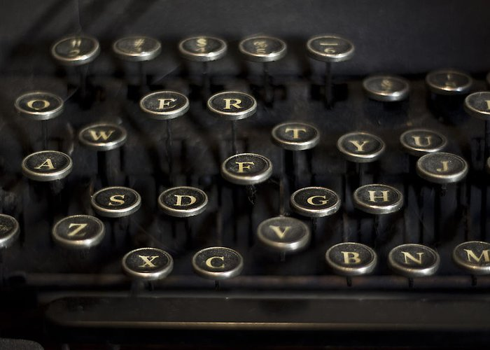 Keys Greeting Card featuring the photograph Typewriter Keys by Jessica Berlin