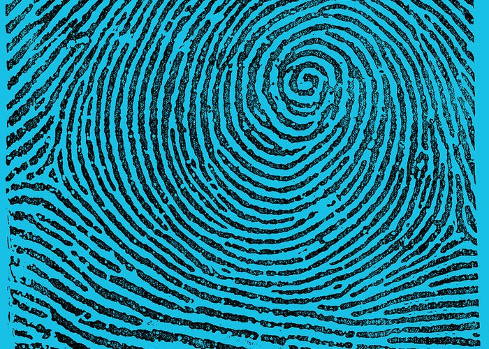 Fingerprint Greeting Card featuring the photograph Typical Whorl Pattern, 1900 by Science Source