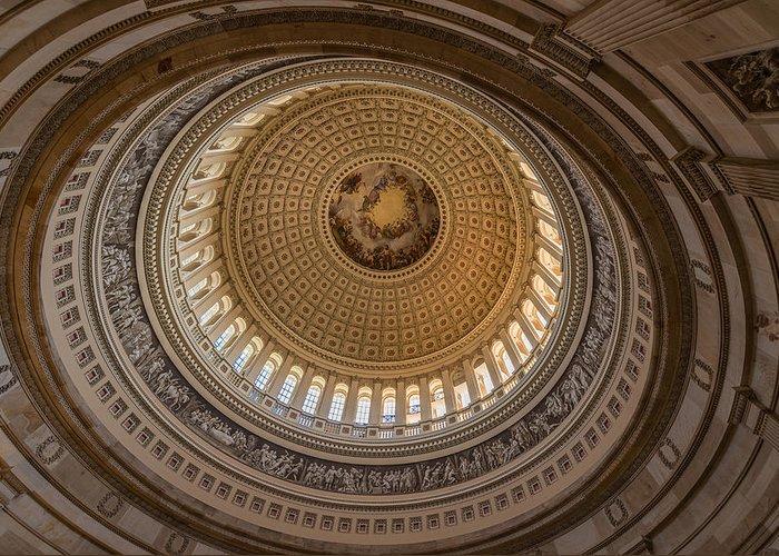 U Greeting Card featuring the photograph U S Capitol Rotunda by Steve Gadomski