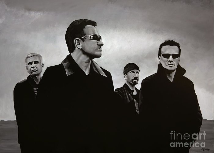 U2 Paintings Greeting Cards