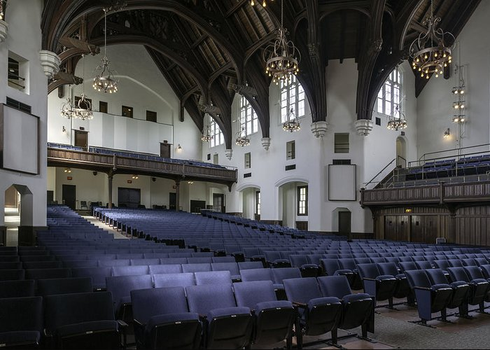 University Auditorium Greeting Card featuring the photograph Uf University Auditorium Interior And Seating by Lynn Palmer