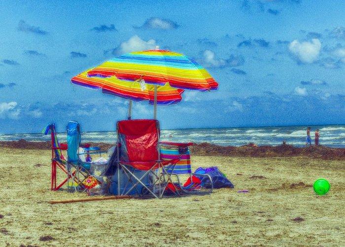 Beach Greeting Card featuring the photograph Umbrellas At The Beach by Kristina Deane
