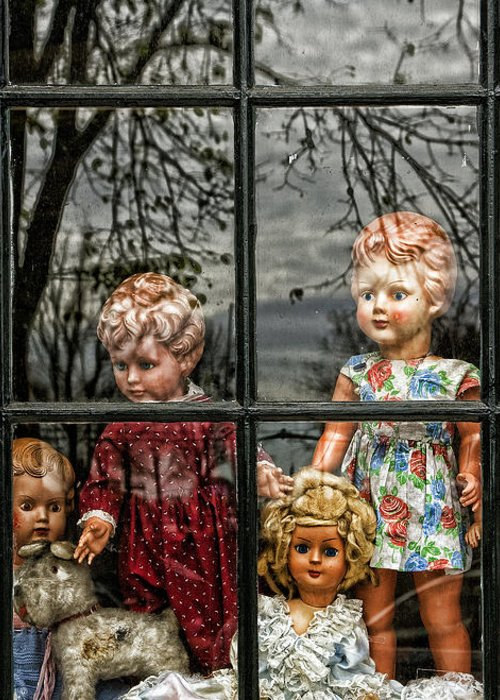 Dolls Greeting Card featuring the photograph Uncertainty by Joanna Madloch