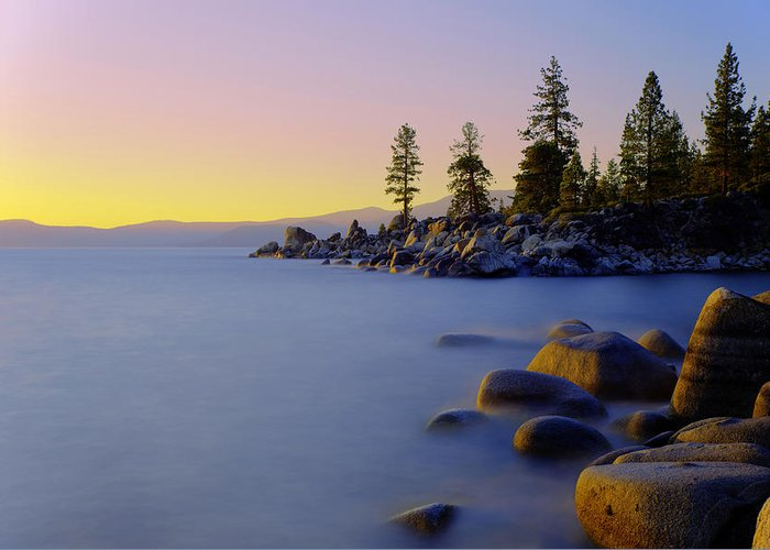Lake Tahoe Greeting Card featuring the photograph Under Clear Skies by Chad Dutson