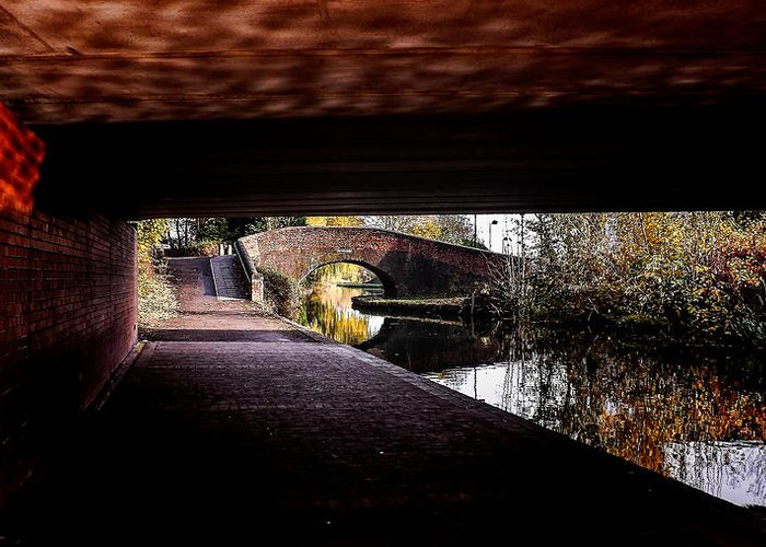 Under The Bridge Greeting Card featuring the photograph Under The Bridge by Lina Jordaan