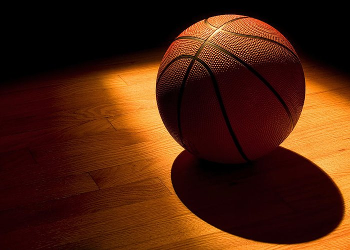 Basketball Greeting Card featuring the photograph Under The Lights by Andrew Soundarajan
