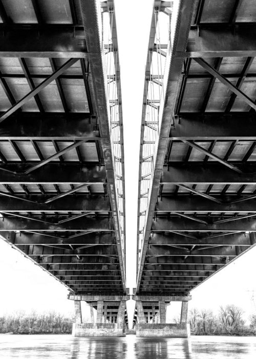 Bridge Greeting Card featuring the photograph Under The Page Bridge by Bill Tiepelman