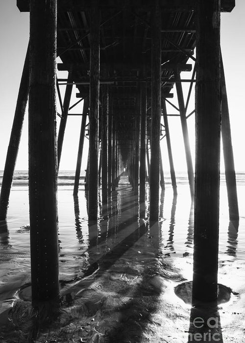 Pier Greeting Card featuring the photograph Under The Pier by Timothy Johnson
