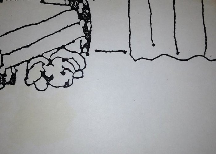 Chair Greeting Card featuring the drawing Underdog 1 by Erika Chamberlin