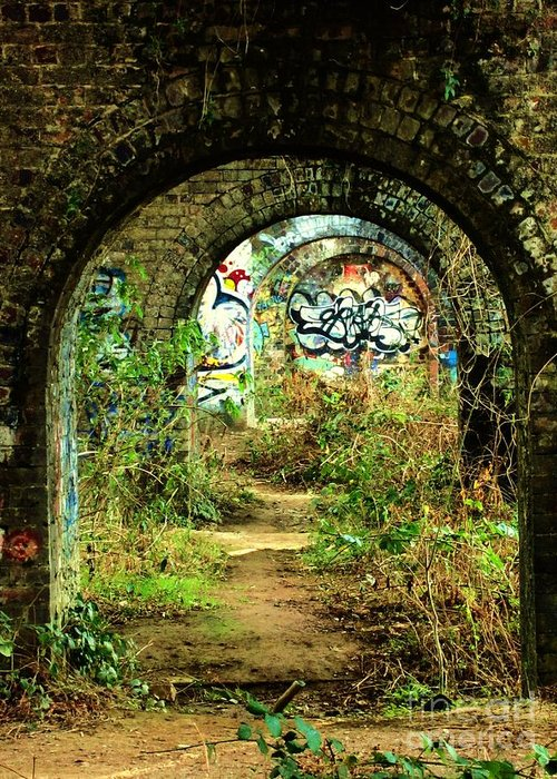 Under Greeting Card featuring the photograph Underneath The Railway Arches by C Lythgo