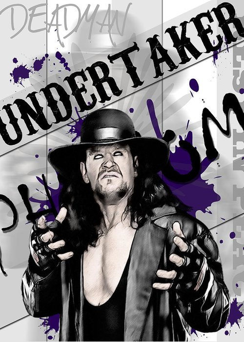 Undertaker Greeting Card featuring the digital art Undertaker by Anibal Diaz