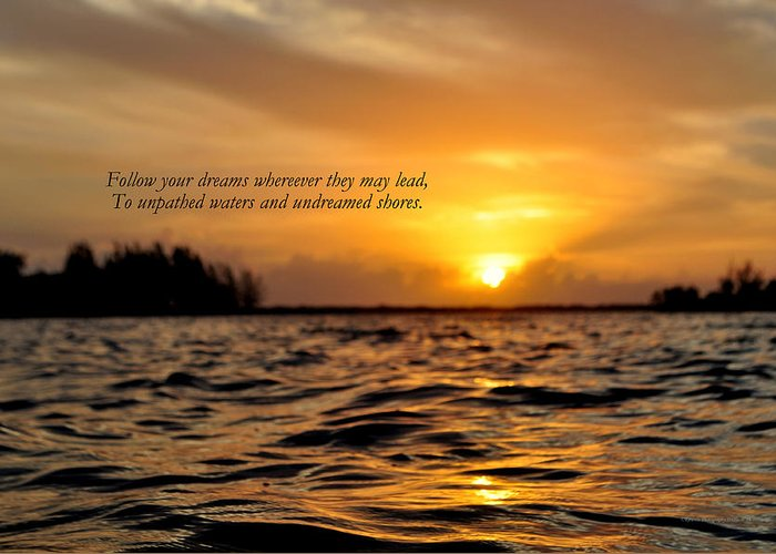Sunrise Greeting Card featuring the photograph Undreamed Shores by Dennis Stanton