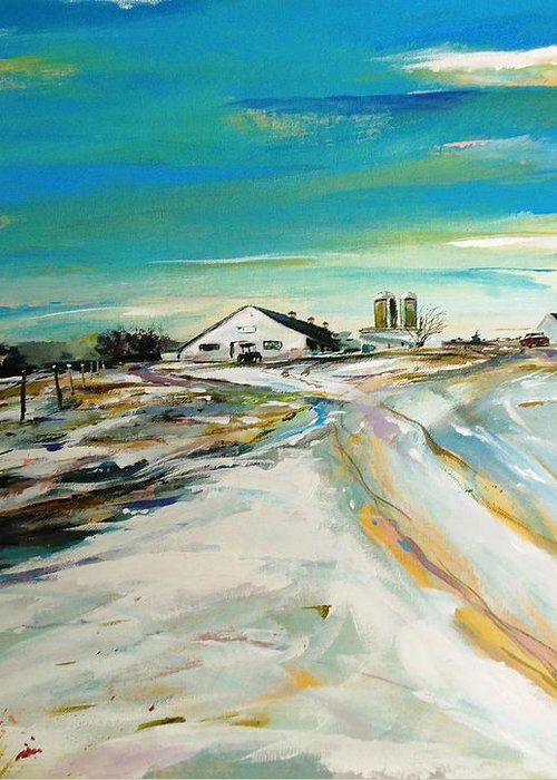 Acylic Greeting Card featuring the painting Unexpected Dusting Sutton Ma by Scott Nelson