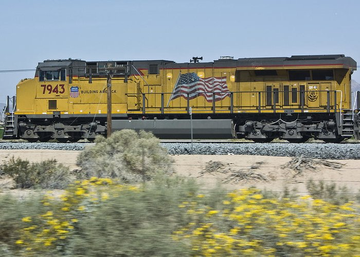 Union Pacific Greeting Card featuring the photograph Union Pacific by Robert Carpenter