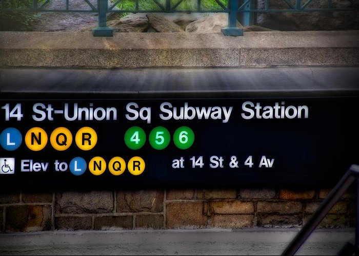 Union Square Greeting Card featuring the photograph Union Square Subway Station by Susan Candelario