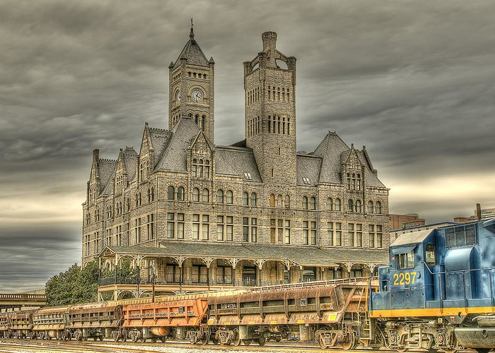 Nashville Greeting Card featuring the photograph Union Station by Brett Engle