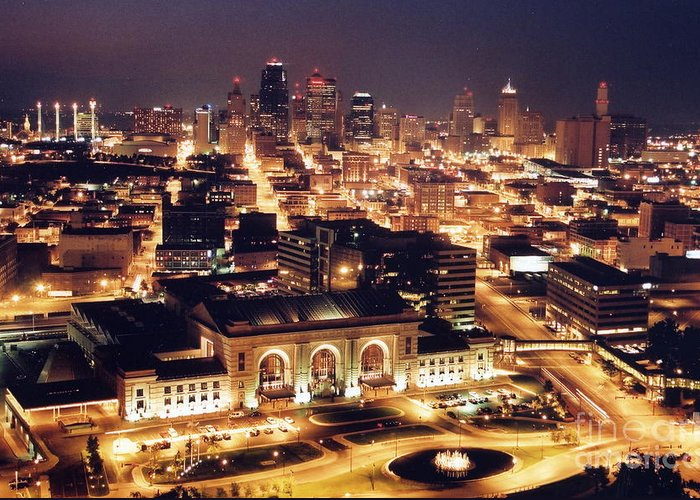 Kansas City Greeting Card featuring the photograph Union Station Night by Crystal Nederman