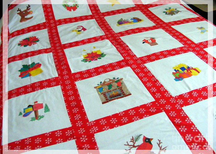 Quilt Image Blocks Greeting Cards