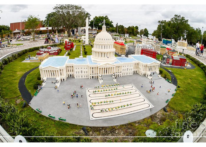 Florida Legoland Us Capital Washington Dc District Columbia Greeting Card featuring the photograph United States Capital Building At Legoland by Edward Fielding