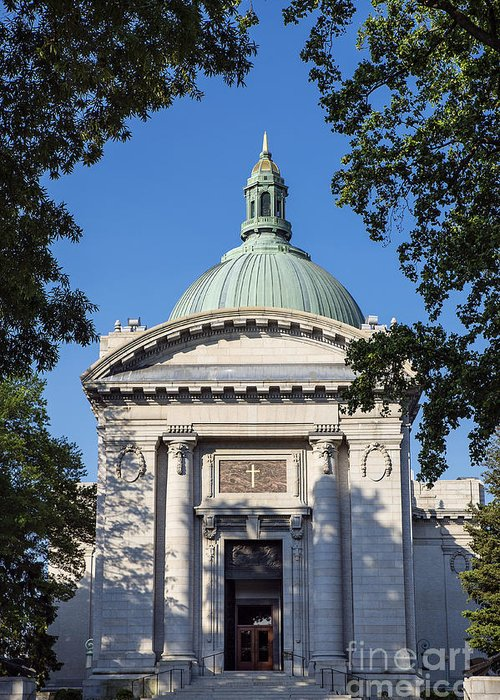 America Greeting Card featuring the photograph United States Naval Academy Chapel by John Greim