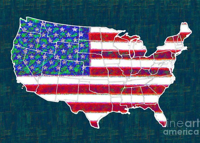 Usa Greeting Card featuring the photograph United States Of America - 20130122 by Wingsdomain Art and Photography