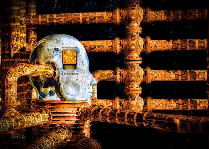 Surreal Greeting Card featuring the digital art Universal Mind by Bob Orsillo