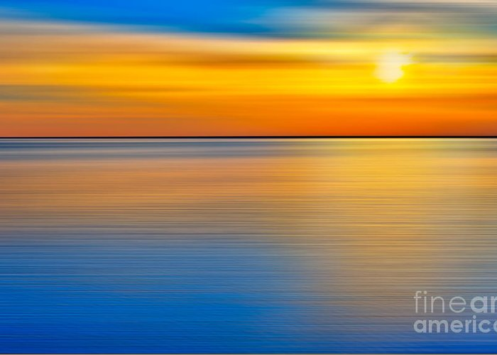 Outer Banks Greeting Card featuring the photograph Unseen Sunset - A Tranquil Moments Landscape by Dan Carmichael