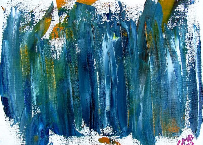 Paintings Greeting Card featuring the painting Untitled Abstract #3 by Greg Mason Burns