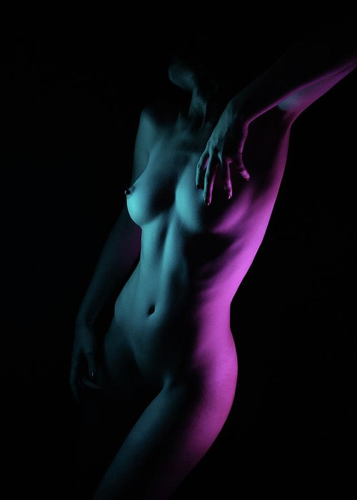 Fine Art Nude Greeting Card featuring the photograph Untitled by Alexbusu