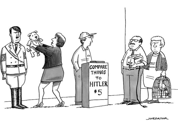 Hitler Greeting Card featuring the drawing New Yorker September 5th, 2016 by Joe Dator