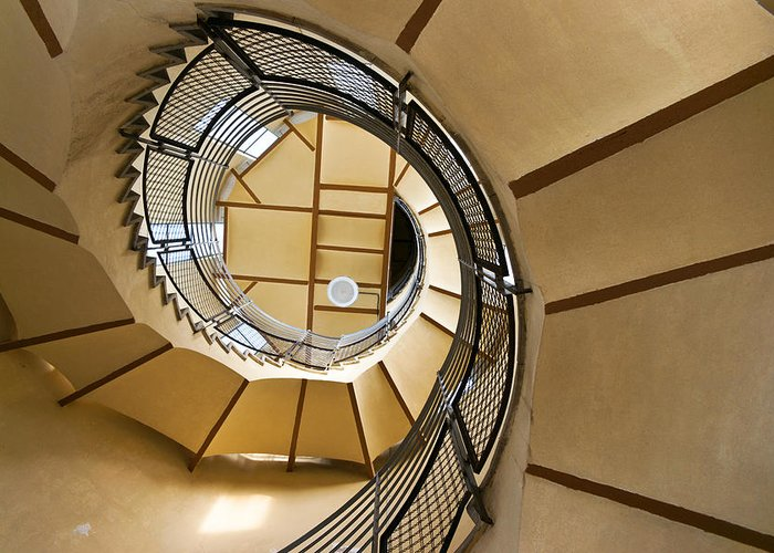 Curves Greeting Card featuring the photograph Up The Staircase by Kent Nancollas