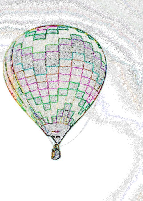 Plano Greeting Card featuring the photograph Up Up And Away - Sketch by Jim Martin