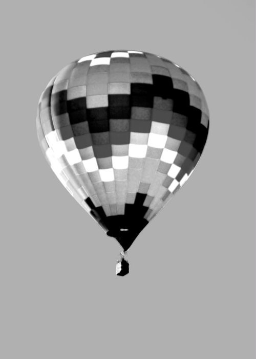 Balloon Greeting Card featuring the photograph Up Up And Away In Infra Red by Jim Martin