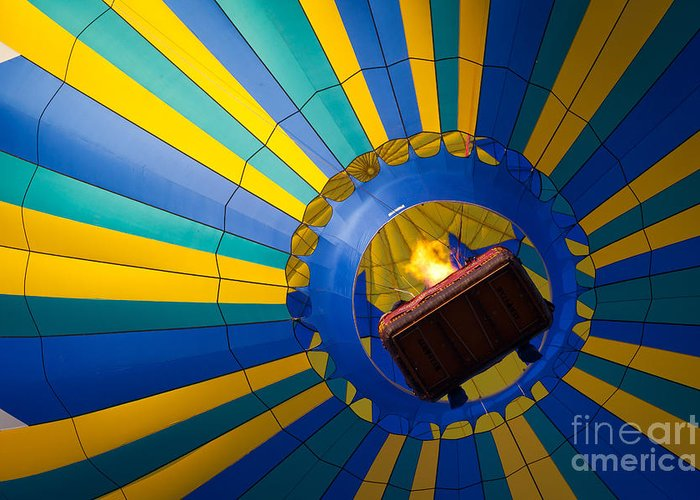 America Greeting Card featuring the photograph Up Up And Away by Inge Johnsson
