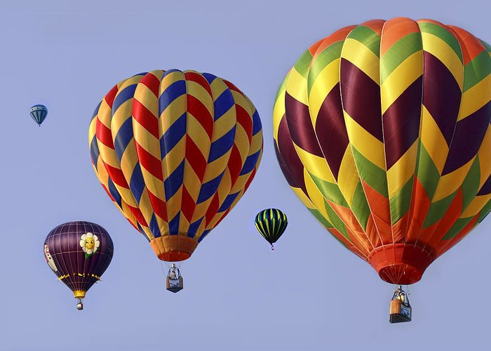Hot Greeting Card featuring the photograph Up Up And Away by Marcia Colelli