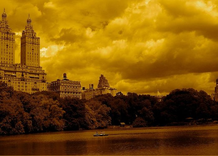 Iphone Cover Cases Greeting Card featuring the photograph Upper West Side And Central Park by Monique's Fine Art